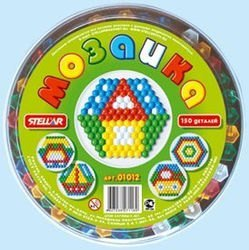 Фото Мозаика для детей круглая 150 деталей, 13 мм (01012)