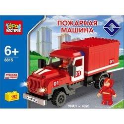 Фото Конструктор Пожарная машина Урал 192 деталей (BB-8815-R2)