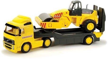 Фото Игрушечная машина Трейлер с дорожным катком Volvo в сетке (8855)