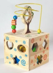Фото Деревянный сортер Логический кубик (Д014)