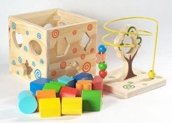 Деревянный сортер Логический кубик (Д014) фотография 3