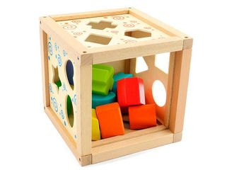 Деревянный сортер Логический кубик (Д014) фотография 5