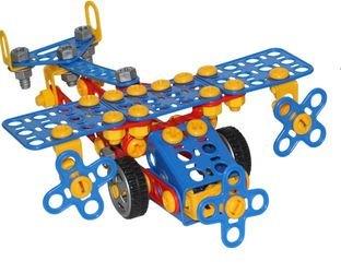 Фото Конструктор с болтами и гайками Изобретатель Самолёт №2 144 элемента в пакете (55019)