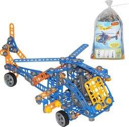 Фото Конструктор с болтами и гайками Изобретатель Вертолёт №2 232 элементав пакете (55033)