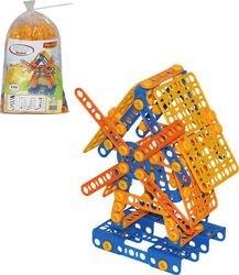 Фото Конструктор с болтами и гайками Изобретатель Мельница №2  (195 элементов в пакете (55125)