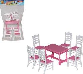 Фото Набор мебели для кукол №6 (7 элементов) в пакете (54395)