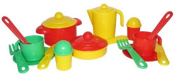 Фото Набор игрушечной посуды Настенька на 2 персоны (3902)