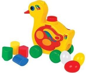 Развивающая игрушка сортер Уточка - несушка (в коробке) фотография 1