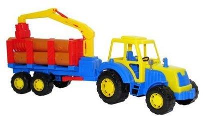 Фото Игрушка трактор лесовоз Алтай с полуприцепом (35370)
