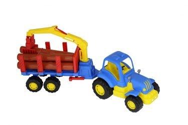 Фото Игрушка трактор лесовоз с полуприцепом Крепыш (44815)