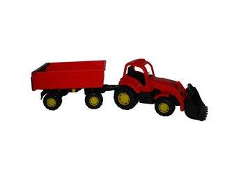 Фото Игрушка трактор с прицепом и ковшом №1 Крепыш (44556)