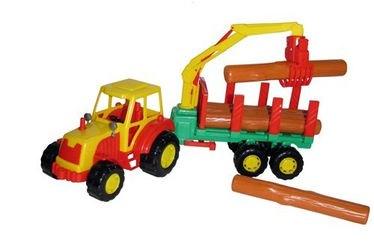 Фото Игрушка трактор лесовоз с полуприцепом Мастер (35295)
