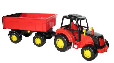 Фото Игрушка трактор с прицепом №1 Мастер (35257)