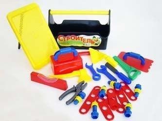 Фото Игровой набор инструментов Строитель №4 в ящике (У761)