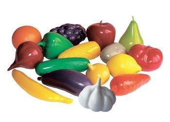 Фото Игровой набор игрушечные Фрукты и овощи в сетке (У748)