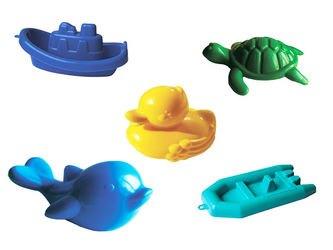 Фото Игровой набор для ванной Дельфин, черепаха, уточка, кораблик, лодочка (У560)