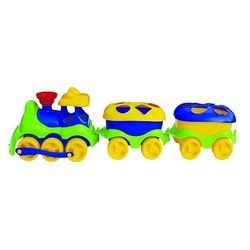 Фото Развивающая игрушка сортер Паровозик с логическими фигурами (У448)