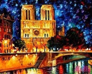 Фото Картины по номерам Афремов Собор Парижской Богоматери 40х50 (GX9117)