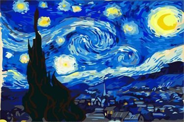 Фото Картина стразами Ван Гог Звездная ночь 40х50 (GL019)
