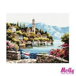 Фото Картина из мозаики Городок на заливе 40х50(GZ998)