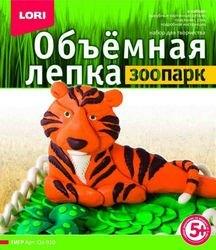 Фото Набор для творчества Объемная лепка Зоопарк Тигр (Ол-010)
