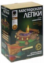 Фото Набор для творчестваМастерская лепки Глиняная свеча Живой огонек (217021)