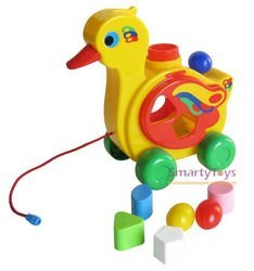 Развивающая игрушка сортер Уточка - несушка (в мешке) фотография 2