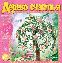 Фото Набор для плетения из бисера и пайеток Дерево счастья Яблоня в цвету (Дер-001)