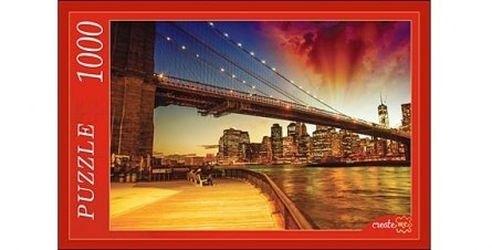Фото ПазлНочной Бруклинский мост1000 элементов (РК1000-7797)