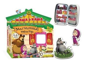 Фото Магнитный театр Маша и Медведь Маша+каша (VT3206-06)