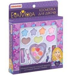 Фото Набор детской декоративной косметикиEva Moda (тени, помады, блески для губ, кисточка,ВВ1748)