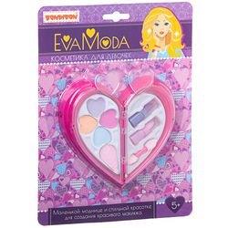 Фото Набор детской декоративной косметикиEva Moda (сердце, 2-а отделения с тенями, помадами,ВВ1761)