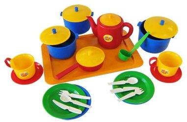 Фото Набор игрушечной посуды Хозяюшка большой (21006)