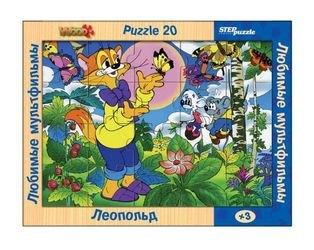 Фото Деревянный пазл Любимые мультфильмы Леопольд (89708)