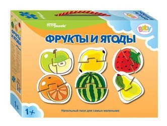 Фото Пазл половинки для самых маленьких Фрукты и ягоды (70112)