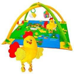 """Фото Мягкий развивающий коврик для малышей с дугами """"Лужайка"""" Цыпленок (195)"""