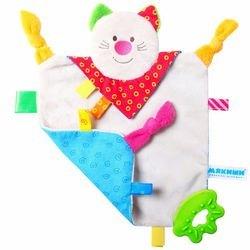 Фото Мягкая игрушка с прорезывателем Мякиши-ШуМякиши Платочек Котенок (325)