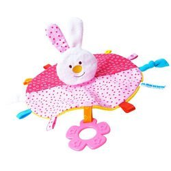 Фото Мягкая игрушка с прорезывателем Мякиши-ШуМякиши Платочек Зайка (324)