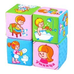 "Фото Мягкие развивающие кубики ""Режим дня"" 4 кубика (269)"
