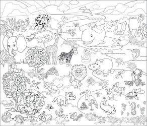 Напольная раскраска Веселый зоопарк (34455)  фотография 2