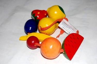 Фото Деревянные бусы фрукты 8 штук (Р-45/792)