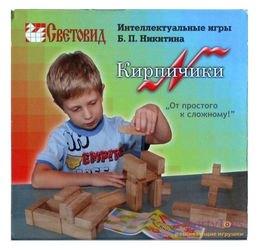Игры Никитина. Кирпичики в картонной коробке (дерево, Световид) фотография 1
