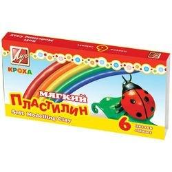 """Фото Пластилин для детей мягкий """"Кроха"""" 6 цветов (12С 863-08)"""