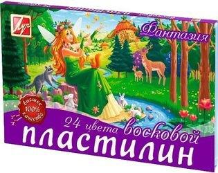 """Фото Пластилин для детей мягкий  восковой """"Фантазия"""" 24 цветов (25С 1525-08)"""