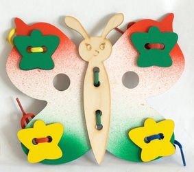 Шнуровка деревянная Бабочка фотография 1