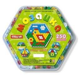 Фото Детская мозаика Шестигранная диаметр 13 мм, 250 деталей (01020)