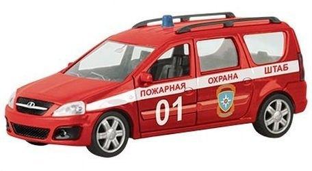 Фото Масштабная модель Лада Ларгус Пожарная охрана 1:38 (49482)