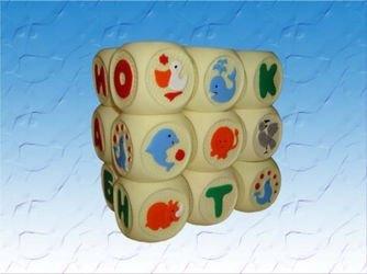 Фото Набор резиновых кубиков Веселая азбука (СИ-105)