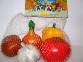Фото Набор игрушечных Овощей из резины (СИ-317)
