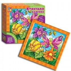 Фото Набор для творчества Кристалл картина Улитка и бабочка (VT4010-03)